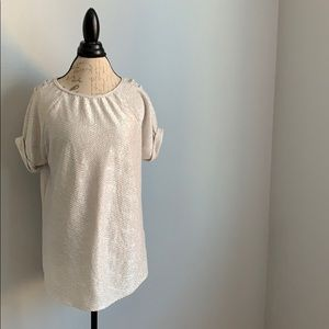 River Island UK Polyester Shine Silver Stretch Top
